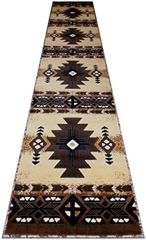 Concord Global Trading South West Native American Long Runner Area Rug Design C318 Berber 32 Inch X 15 Feet 6 Inch