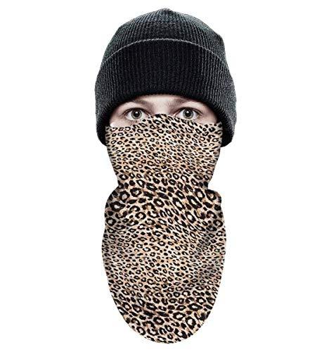 BingGuiC Ski Mask for Men Women Brown Leopard Texture Art Windproof Neck Warmer Sports Balaclava Ski Face Mask Gift