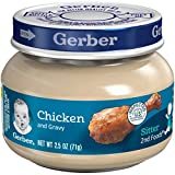 Gerber 2nd Foods Meats, Chicken & Chicken Gravy, 2.5 Ounce (Pack of 12)