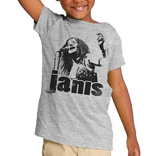 Janis Joplin Sings Bootleg Heather Gray short sleeve Toddler Tee