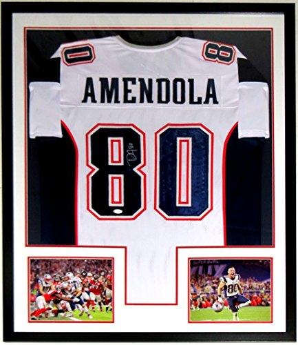 Danny Amendola Autographed Patriots Jersey - JSA COA Authenticated- Custom Framed & 2 Super Bowl 51 8x10 Photo 34x42
