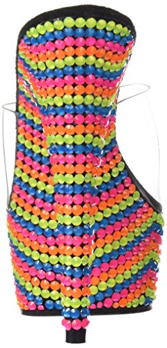Femme 601rbs Ouvert mehrfarbig Multi Delight Sandales neon Mehrfarbig Pleaser clr Bout 4qK1XAH