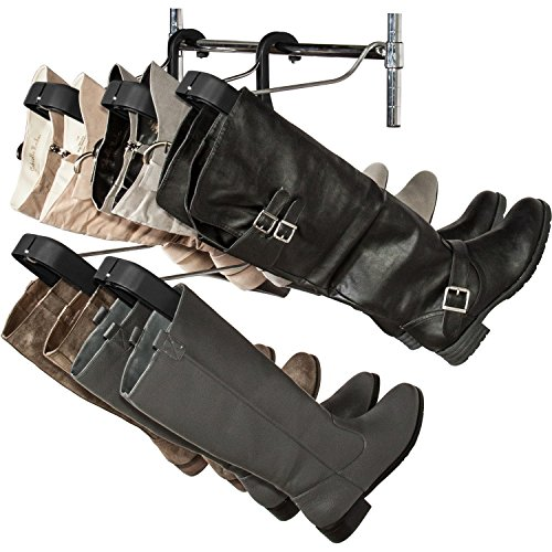 Door Hanger Insert (Boot Storage Rack by Boot Butler – As Seen On Rachael Ray – Clean Up Your Closet Floor with Hanging Boot Storage – Easy to Assemble & Built to Last – 5-Pair Hanger Organizer & Shaper/Tree)