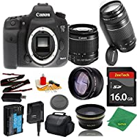 Great Value Bundle for 7D MARK II DSLR – 18-55mm STM + 75-300mm III + 16GB Memory + Wide Angle + Telephoto Lens + Case