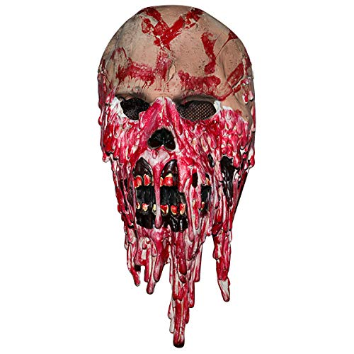 Monstleo Halloween Mask Scary Bleeding Zombie Horror face mask for Adults (Blood face)