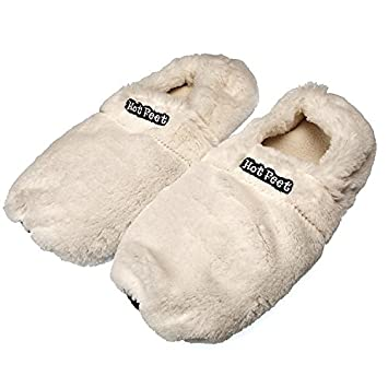 Hot Feet Deluxe Zapatillas, tamaño L (36 – 40), en el microondas