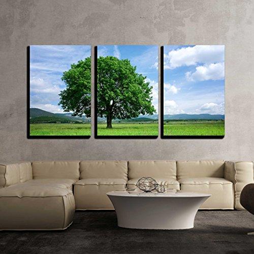 Tree on green field x3 Panels