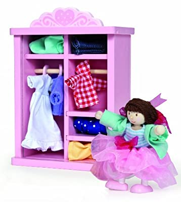 Le Toy Van Dressing Up Wardrobe for Dollhouses