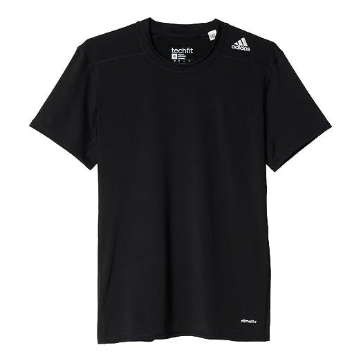 c7dda4df Amazon.com: adidas Men's TechFit Baselayer Compression Short Sleeve ...