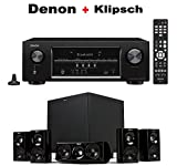 DENON AVR-S530BT 5.2 Channel Full 4K Ultra HD AV Receiver with Bluetooth + Klipsch HDT-600 Home Theater System Bundle