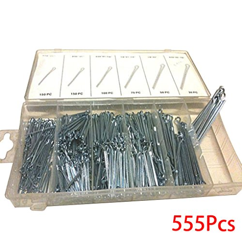 555PCS Watch Band Link Shackle Cotter Pins Assortment Repair Tool Sets U-Shaped Hardware Assort Kit with Case ()