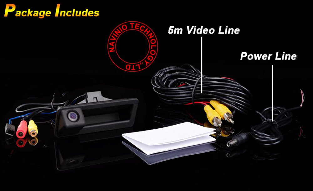 Kalakass C/ámara reversible del veh/ículo de 170 /° integrada en caso maneja la c/ámara de marcha atr/ás que invierte para X1 X3 X4 X5 F30 F31 F34 F07 F10 F11 F25 F26 E84