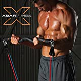 Xbar Portable Gym with Bodylastic Resistance Band Workout System - Personal Home and Office Gym Training Set - Over 100 Exercises for Men & Women