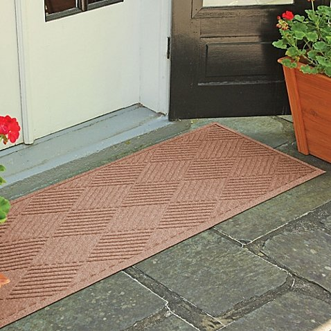 Weather Guard™ Diamonds 22-Inch x 60-Inch Door Mat (Medium Brown) by Weatherguard