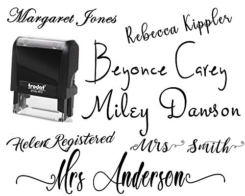 (Signature Stamp Name Stamp Pick from 10+ Fonts Customizable Personalized Custom Adult Name Self Inking Stamp One Line Custom Stamp RN Nurse Stamper Self Inking Personalized Self-Ink Stamp Name Stamp)