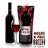 Wine Caddy 3 Pack 750ml Foldable Wine bottle & Funnel Portable to go flasks