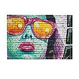 KOTOM NYMB Art Paintings Decor, Sex Woman with Red Lips Print on Wall Bath Rugs, Non-Slip Doormat Floor Entryways Indoor Front Door Mat, Kids Bath Mat, 15.7x23.6in, Bathroom Accessories