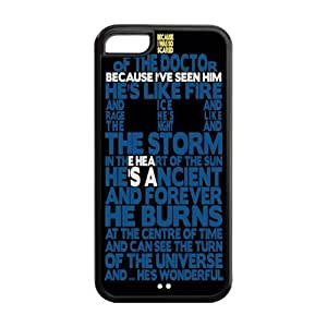 5C Phone Cases, Dr.Who Quotes Hard TPU Rubber Cover Case for iPhone 5C