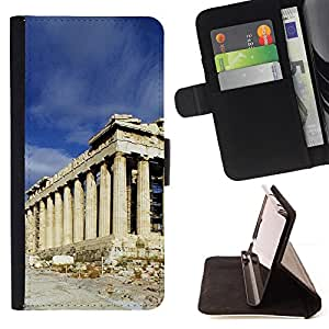 Jordan Colourful Shop - Architecture Ancient Rome Building For Samsung Galaxy A3 - < Leather Case Absorci????n cubierta de la caja de alto impacto > -