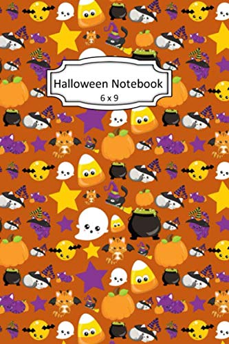 Halloween Black Cats Clipart (Halloween Notebook: Witch's Cat Clip Art Images on 6 x 9 Blank Lined Softcover Journal for Notes , Halloween Gift Design Cover Note)