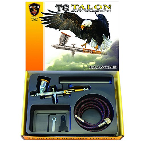 - Paasche TG-Set Double Action Gravity Feed Airbrush