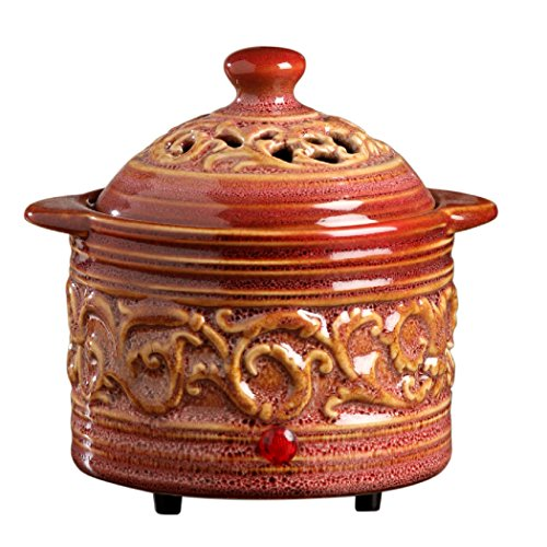Hosley Candle Company Red Electric Potpourri Warmer (Pot Potpourri compare prices)