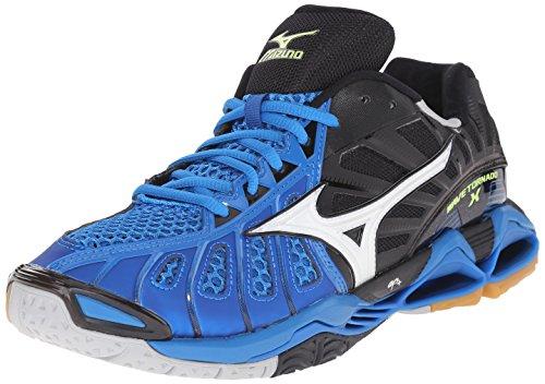Mizuno Men's Wave Tornado x Volleyball Shoe, White/Navy, 7 D US
