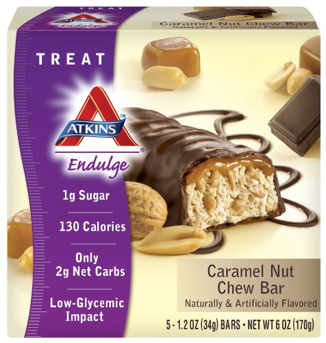 Atkins Endulge Bars, Caramel Nut Chew, 1.2-Ounce Bars (Pack of (Caramel Nut Chew)