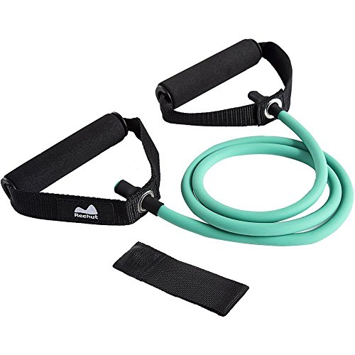 Abdominal Muscle Chart (Reehut Single Resistance Band, Exercise Tube - With Door Anchor and Manual)