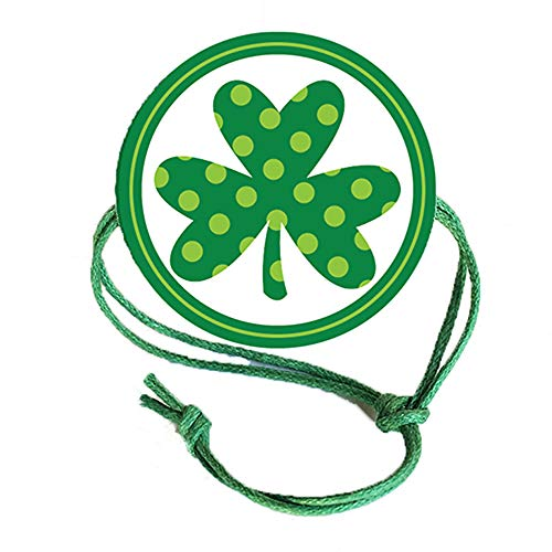 Napkin Knots St. Patrick's Day Napkin Ring - Polka Dot Shamrock (Pack of 10) (Banquet)