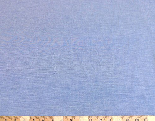 - Discount Fabric Cotton Chambray Apparel Blue CH102