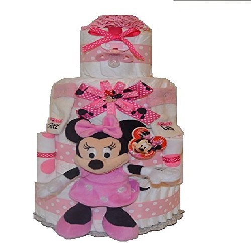 4 Tier Extra Large Minnie Mouse Diaper Cake/ Girl Diaper ...