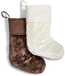 Inc International Concepts Faux Fur Stocking (Brown)