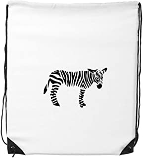 DIYthinker Zebra Animal Noir Silhouette Naturelle Drawstring Backpack Shopping Sacs de Sport Cadeaux