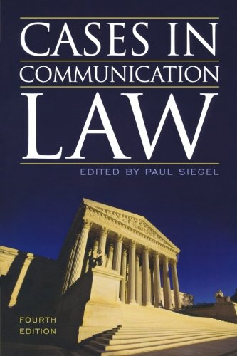 Cases in Communication Law by Rowman & Littlefield Publishers