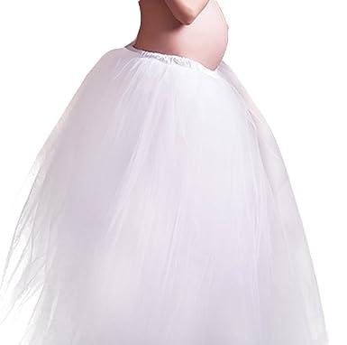 Hapyy Cherry Ropa de Disfraz Fotos Pre-mamá Falda Larga Grande de Gasa Accesorios de Fotografía Maternidad para Mujeres Embarazadas Maternity Cloth ...