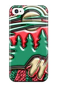 Unique Design Iphone 4/4s Durable Tpu Case Cover Minnesota Wild Hockey Nhl (62)
