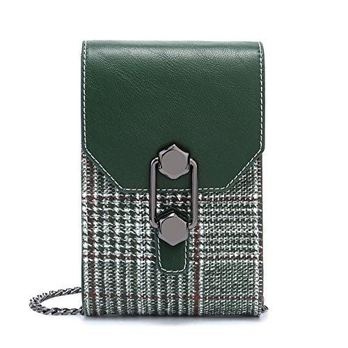 QQWE Bolso Bolso Para Hombro Móvil Green De Embrague Teléfono De Mini Para Mujer Embrague YYTHx