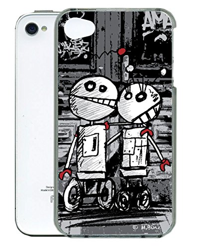 Gift Trenz Kangaroo Lab 3D Robot Romance iPhone Case for 4/4s - Retail Packaging - Multicolor