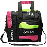 Pyramid Path Deluxe Single Tote - Hot Pink/Lime Green
