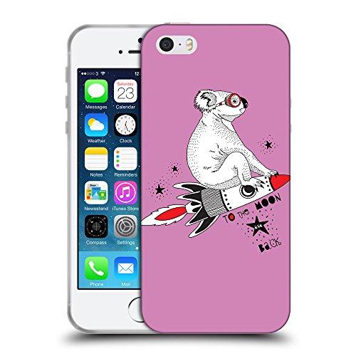 GoGoMobile Coque de Protection TPU Silicone Case pour // Q05240618 Koala volant Bronze // Apple iPhone 5 5S 5G SE