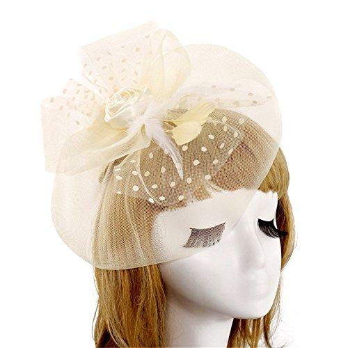 HANXIAODONG Cocktail Tea Party Headwear Fascinators Hat Flower