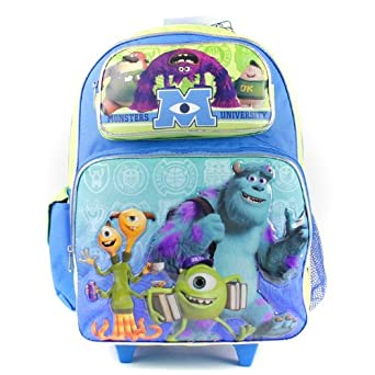 Amazon.com | Disney Monsters University Roller Backpack - Eye 16 ...