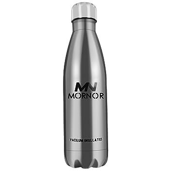Amazon.com: mornor aislado botella de agua de acero ...