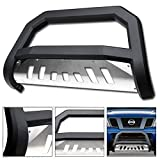 2011 nissan frontier grill guard - VXMOTOR 2005-2017 Nissan Frontier / 2005-2015 Xterra ; 2005-2007 Pathfinder Suv Matte Black AVT Edge Bold Series Bull Bar Brush Push Front Bumper Grill Grille Guard With SS Aluminum Skid Plate