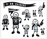 NFL Oakland Raiders Large Family Decal Set