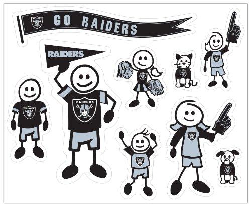 Siskiyou NFL Oakland Raiders Large Family Decal Set
