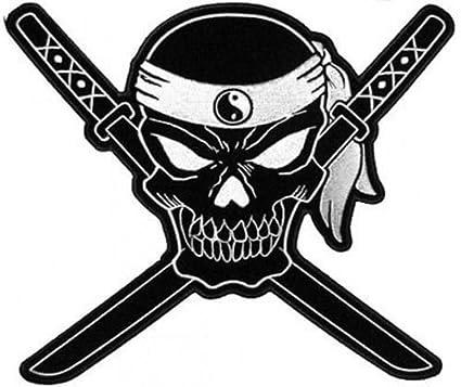 Amazon.com: Skull Cross Swords 12 x 10 Ninja Ying Yan Pirate ...