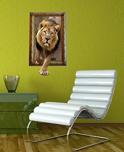 MIAORUI 3D (León) tridimensional de pegatinas de pared mural ...