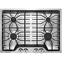 Frigidaire FFGC3026SS 30 Gas Sealed Burner Style Cooktop with 4 Burners, ADA Compliant in Stainless Steel